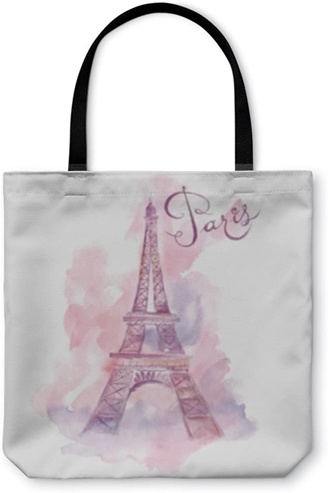 Gear New Shoulder Tote Hand Bag 252548GN Watercolor Eiffel Tower