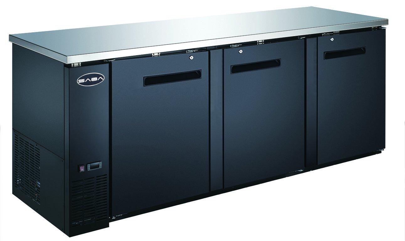 """SABA 90"""" Commercial Bar Back Cooler Refrigerator, 27"""" Depth"""