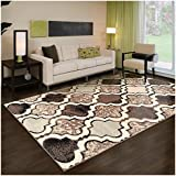 collection area rug 8mm pile height with jute backing chic textured geometric trellis pattern antistatic rugs ivory 4u0027 x 6u0027 rug