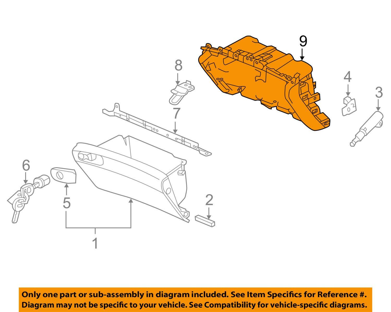 Honda Genuine 77551-T3V-A01ZB Glove Box Back Cover Assembly