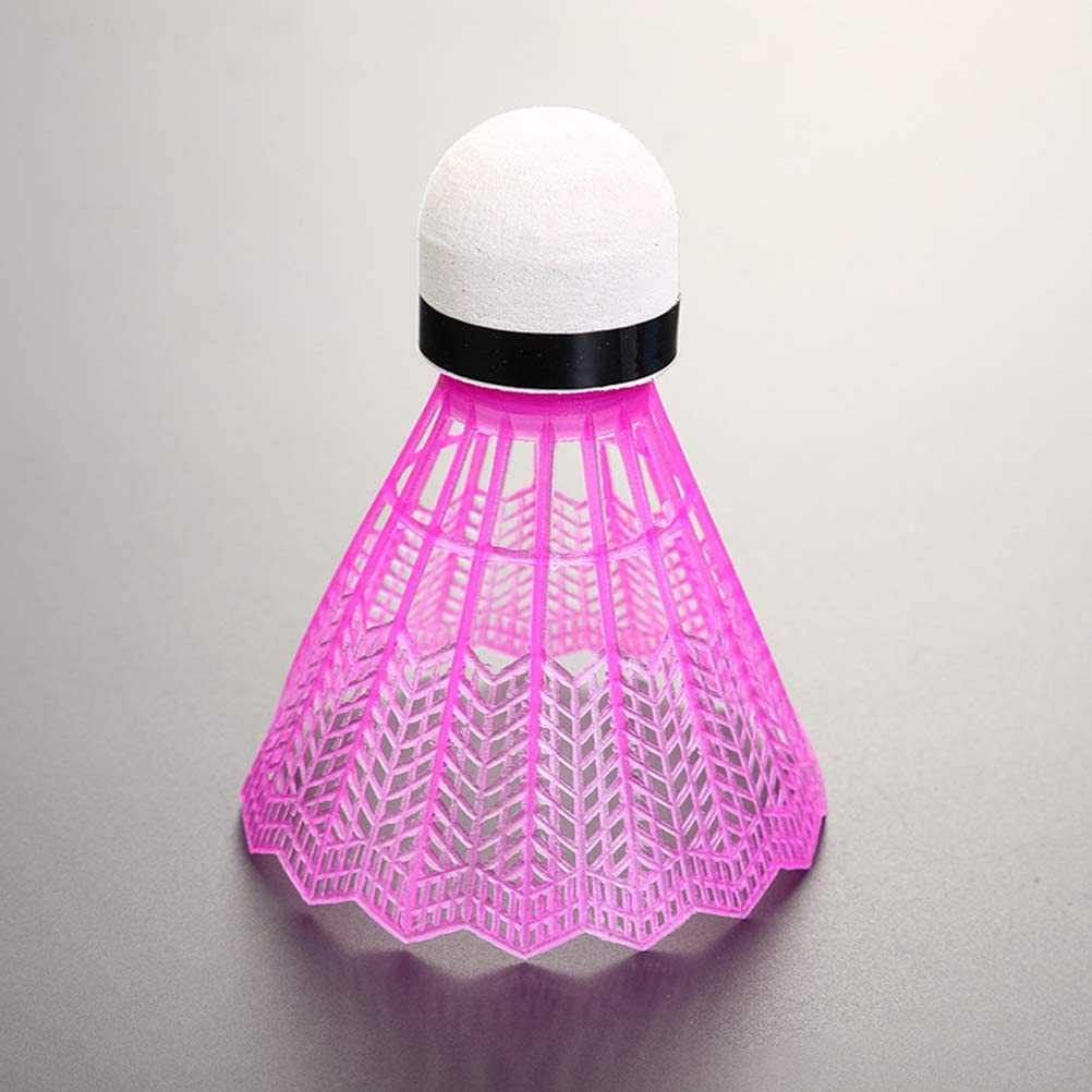 Sykasm Tragbarer Kunststoff Training Badminton Ball Outdoor Sportartikel wei/ß