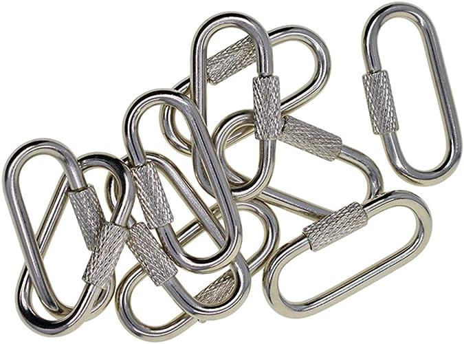 5pcs karabiner ovale form schlüssel kette clip snap haken karabiner schlüssel