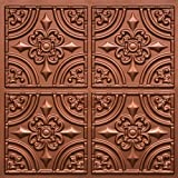 "Discounted Victorian Faux Copper #205 PVC 24""x24"" with Overlaping Edges Fire Rated,Class A, glue On,nail On,tape On,staple On!"