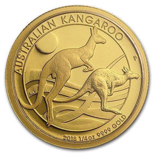 2018 AU Australia 1/4 oz Gold Kangaroo Proof Gold Brilliant Uncirculated ()