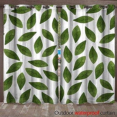 BlountDecor Home Patio Cortina de Exterior Verde Oscuro Acuarela ...