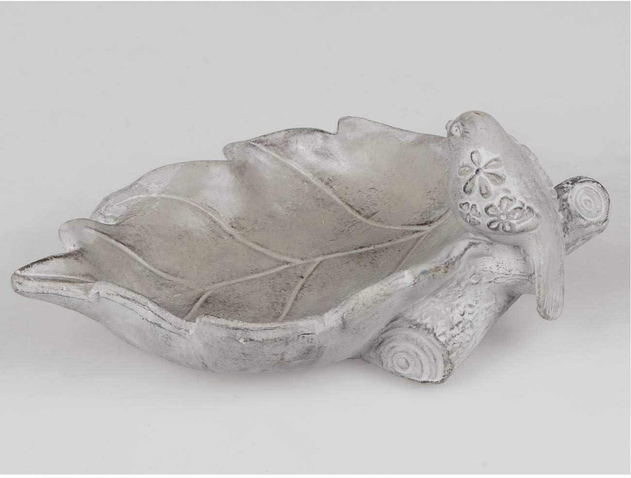 29 cm grey stone colours F20. Formano Bird Bath Leaf L