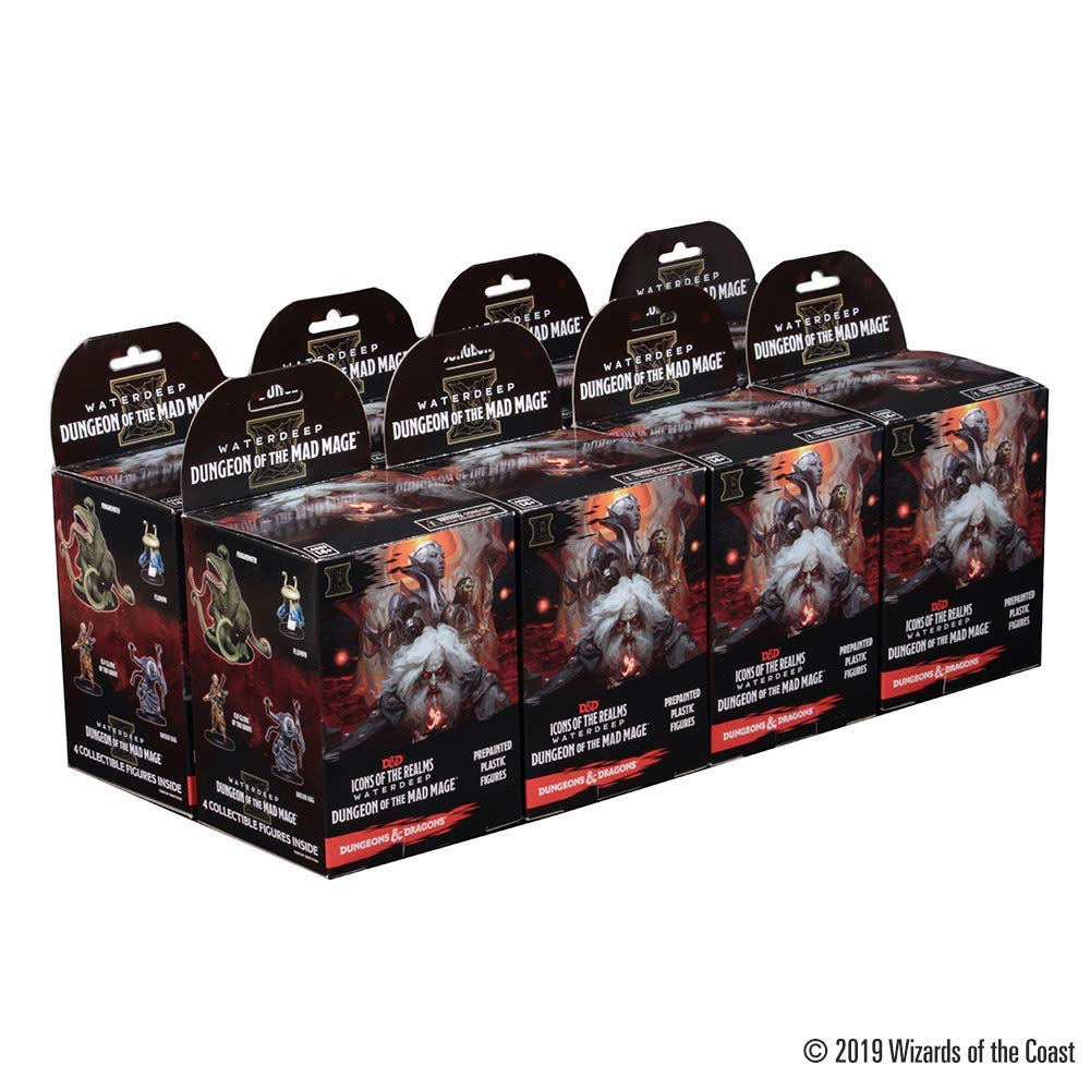 WizKids D&D Icons of The Realms: Waterdeep: Dungeon of The Mad Mage Booster Brick (8 Boosters)
