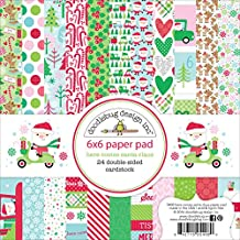 """Doodlebug Double-Sided Paper Pad 6""""X6"""" 24/Pkg-Here Comes Santa Claus, 12 Designs/2Ea"""