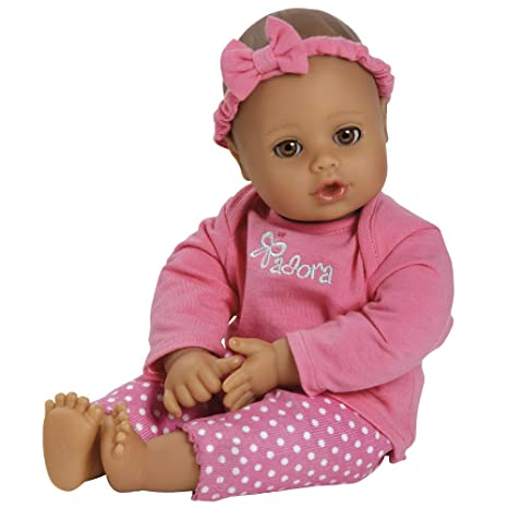 b92550286a4bf Adora PlayTime Baby Pink Vinyl 13 quot  Girl Weighted Washable Cuddly  Snuggle Soft Toy Play Doll