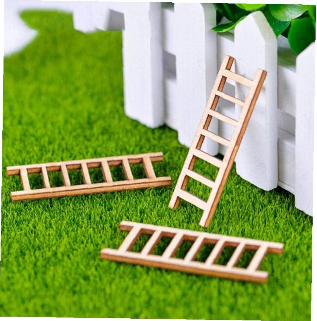 6pcs Escaleras Miniatura De Madera DIY Escalera Dollhouse Accesorios Mini Toy Craft Adornos Regalos Micro Decoración: Amazon.es: Hogar