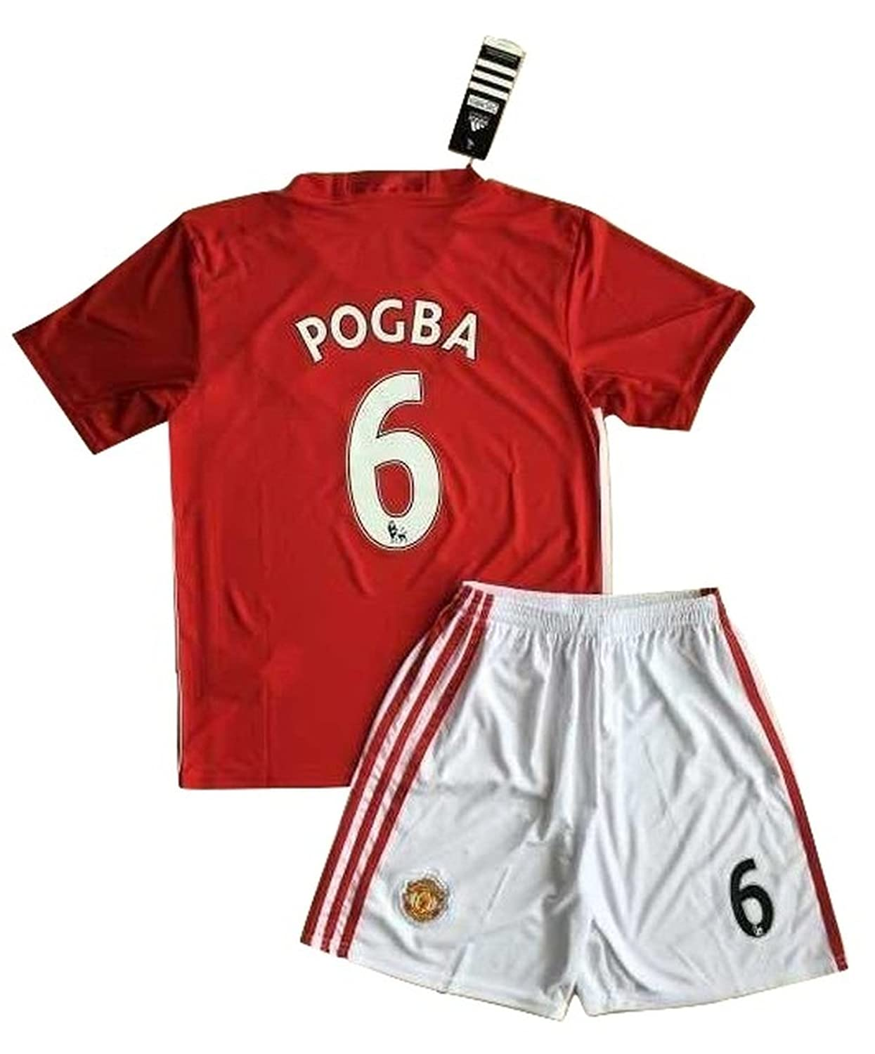 846978b76 ... Soccer Jersey Amazon.com Paul Pogba 6 Manchester United 20162017 Home  Jersey Shorts for Kids Clothing ...