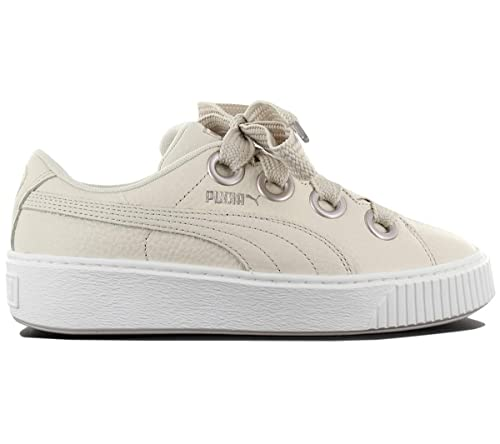 78ae4b9856d Puma Platform Kiss Trainers Natural  Amazon.co.uk  Shoes   Bags