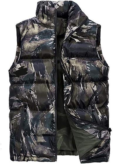 waotier Chalecos Chaleco de algodón Chaleco de Mezclilla de Moda para Hombre Chaqueta de Vaquero Casual en Blusa de Hombro Cazadora: Amazon.es: Ropa y accesorios