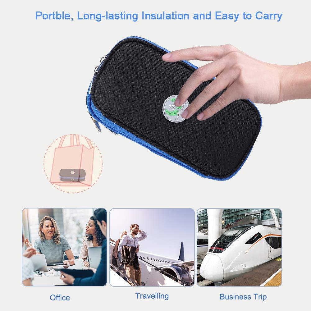 Black Diabetic Organizer Medical Cooler Bag Case for Outdoor Travel Zerodis Portable Insulin Cooler Travel Case