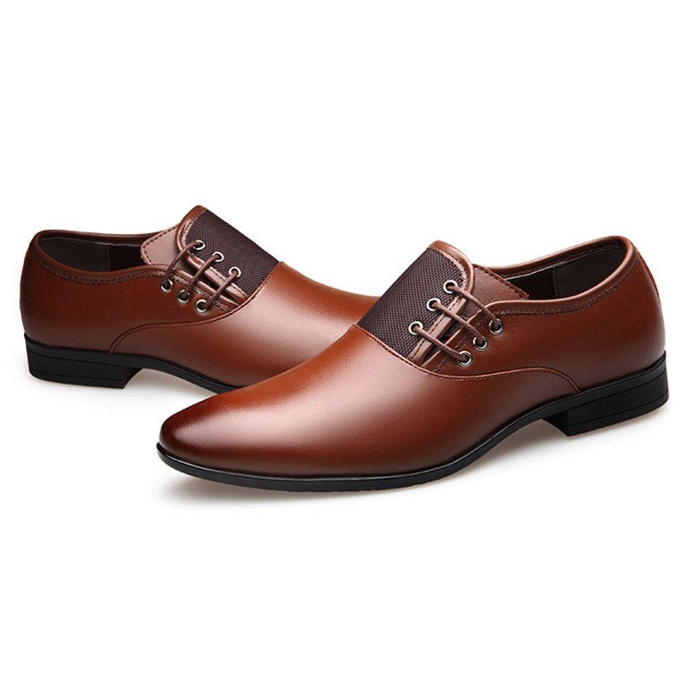 Männer Business Beleg Kleid Schuhe Frühling Lederschuhe Beleg Business auf Arbeit Braun 78d3d5