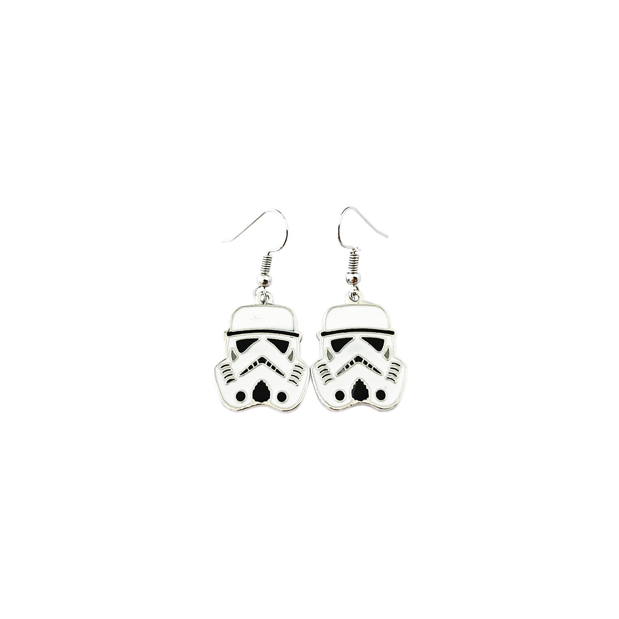 Outlander Star Wars Stormtrooper Color Earring Dangles In Gift Box From