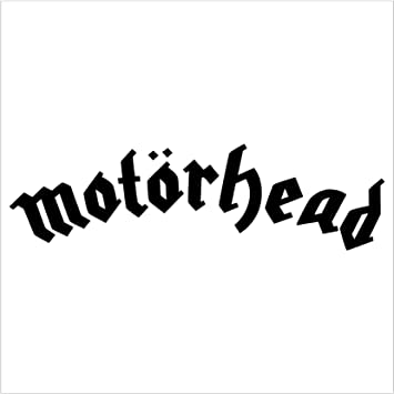 Motorhead rock band black decal car truck window sticker