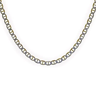 54edfa3b14359 Image Unavailable. Image not available for. Color  Avital   Co. Gucci Link  Diamond Cut Chain Necklace Two ...