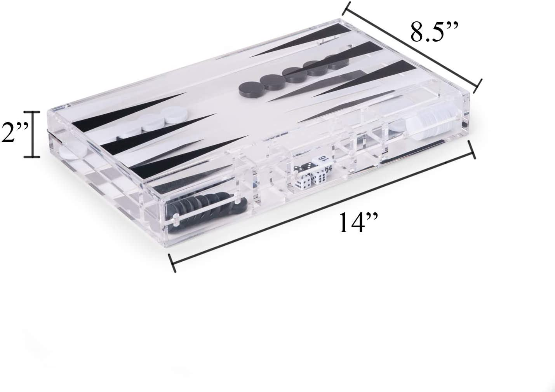 "Bey-Berk Art Deco Design 21/"" Backgammon Set G557L"