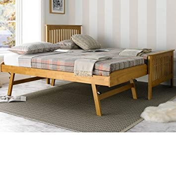 Guest Bed With Trundle Happy Beds Toronto Oak Rubberwood Modern Bed