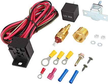X AUTOHAUX Coche Ventilador Termostato Temperatura Sensor ...