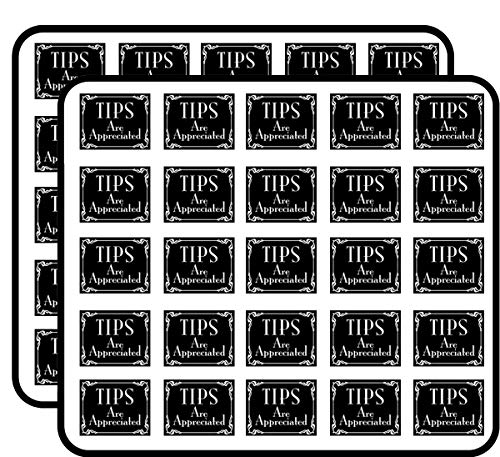 Black Tips are Appreciated (Bartender tip jar Accept) Sticker for Scrapbooking, Calendars, Arts, Kids DIY Crafts, Album, Bullet Journals ()
