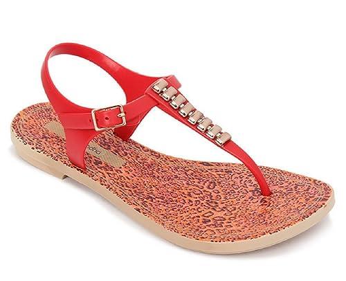 ec50615fa64d Grendha Acai Sandal Women s Thong Flip Flop Red (5)  Amazon.co.uk ...