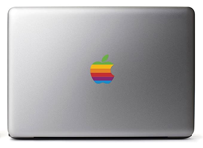 Retro Apple Logo Macbook Decal Sticker For The Macbook Macbook Pro Macbook Air