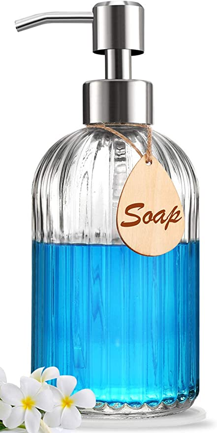 Amazon Com Soap Dispenser With Non Slip Silicone Pad Premium Quality Large Size Dish Hand Soap Dispenser Rust Proof Stainless Steel Pump Ideal For Kitchen Dish Soap Bathroom Soap