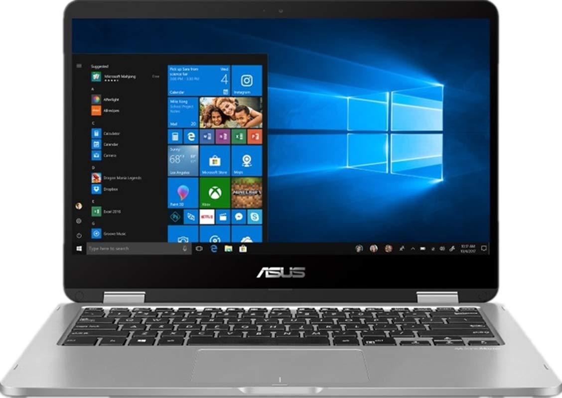 "New ASUS VivoBook 2 in 1 Flip 14"" FHD LCD Touchscreen Laptop Computer, Intel Pentium N5000 up to 2.7GHz, 4GB LPDDR4, 64GB eMMC, Bluetooth, Webcam, Micro HDMI, Fingerprint Reader, Window 10 in S Mode 2"