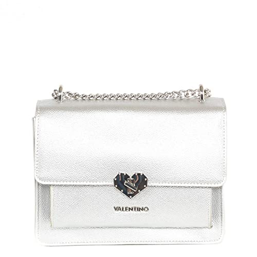 61389a34079 Valentino By Mario Valentino Amelie Silver Heart Clasp Cross-Body Bag Silver  Leather