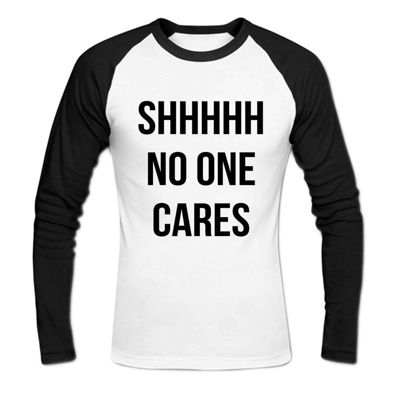 Shhh No One Cares Mens Baseball Shirts
