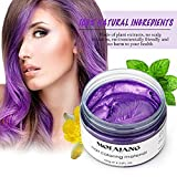 Natural Purple Hair Wax,Efly 4.23 oz-Disposable Purple Ash DIY Hairstyle Colors Hair Wax, for Party Cosplay Easy Cleaning (purple)