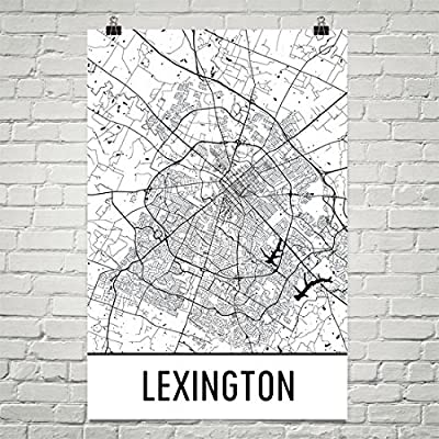 Lexington Poster, Lexington Art Print, Lexington Wall Art, Lexington Map, Lexington City Map, Lexington Kentucky City Map Art,Lexington Gift,Lexington Decor