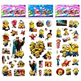6 Sheets Puffy Dimensional Scrapbooking Party Favor Stickers + 18 FREE Scratch and Sniff Stickers - DESPICABLE ME MINIONS