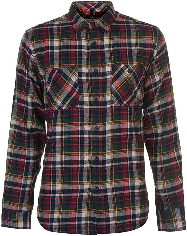 Pierre Cardin Hombre Camisa a Cuadros Franela Rica en Algodón Manga Larga Ajuste Regular (Small, White/Navy/Green/Red): Amazon.es: Ropa y accesorios