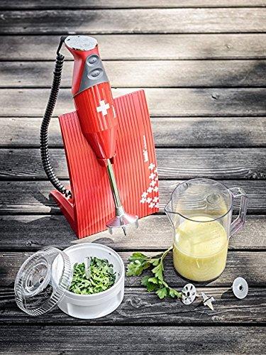 /Swissline Rouge 200/W Bundle Pack/ bamix/ /Robot de Cuisine mixeur Plongeant avec 4/Lames et Accessoires