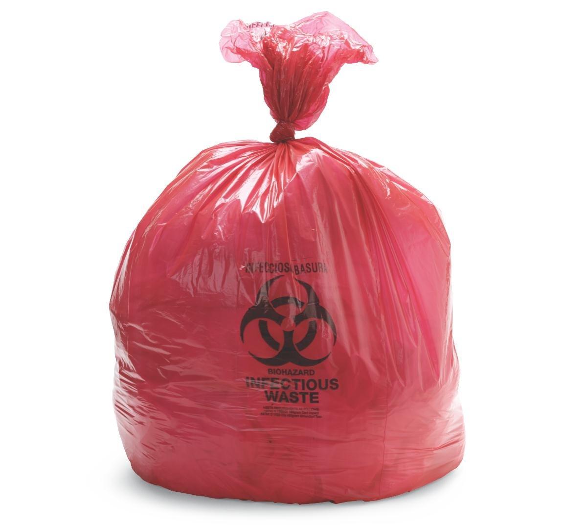 Clear 61 x 76cm Tufpak 1112-2430 Autoclavable Biohazard Bags 24 x 30