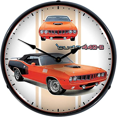 Collectable Sign and Clock 804179 14 Cuda 440 6 Lighted Clock