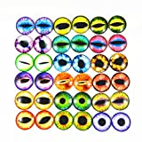 JulieWang 25mm 20pcs Mixed Style Dragon Eyes Round time gem cover Glass Cabochon Dome Jewelry Finding Cameo Pendant Settings