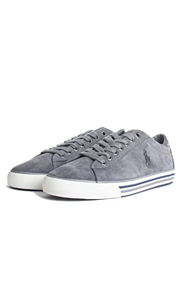 Polo Ralph Lauren Men s Shoes Suede Trainers Sneakers Grey UK Size 11 A85 Y2058  REDIF A003  Amazon.co.uk  Shoes   Bags 91d0891efa4