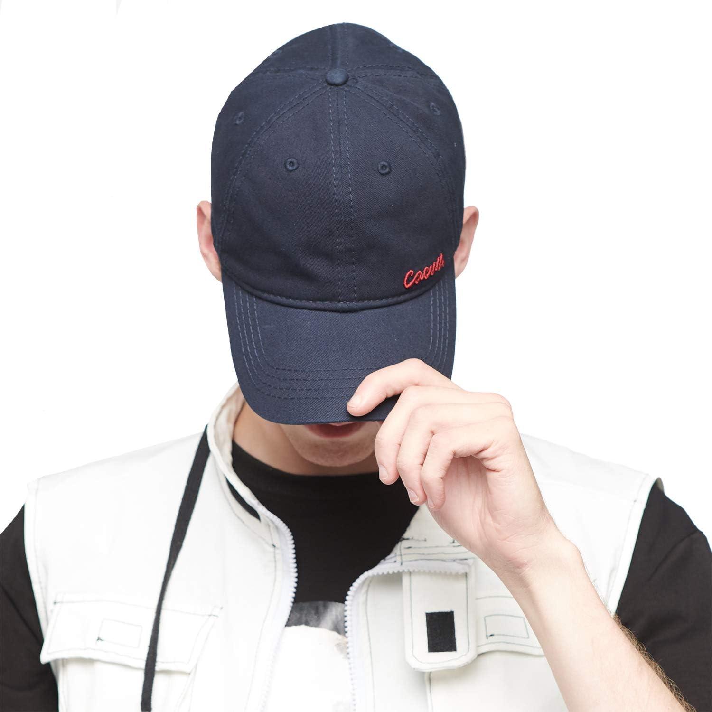 CACUSS Mens Cotton Dad Hat Classic Baseball Cap with Adjustable Buckle Closure,Golf Cap