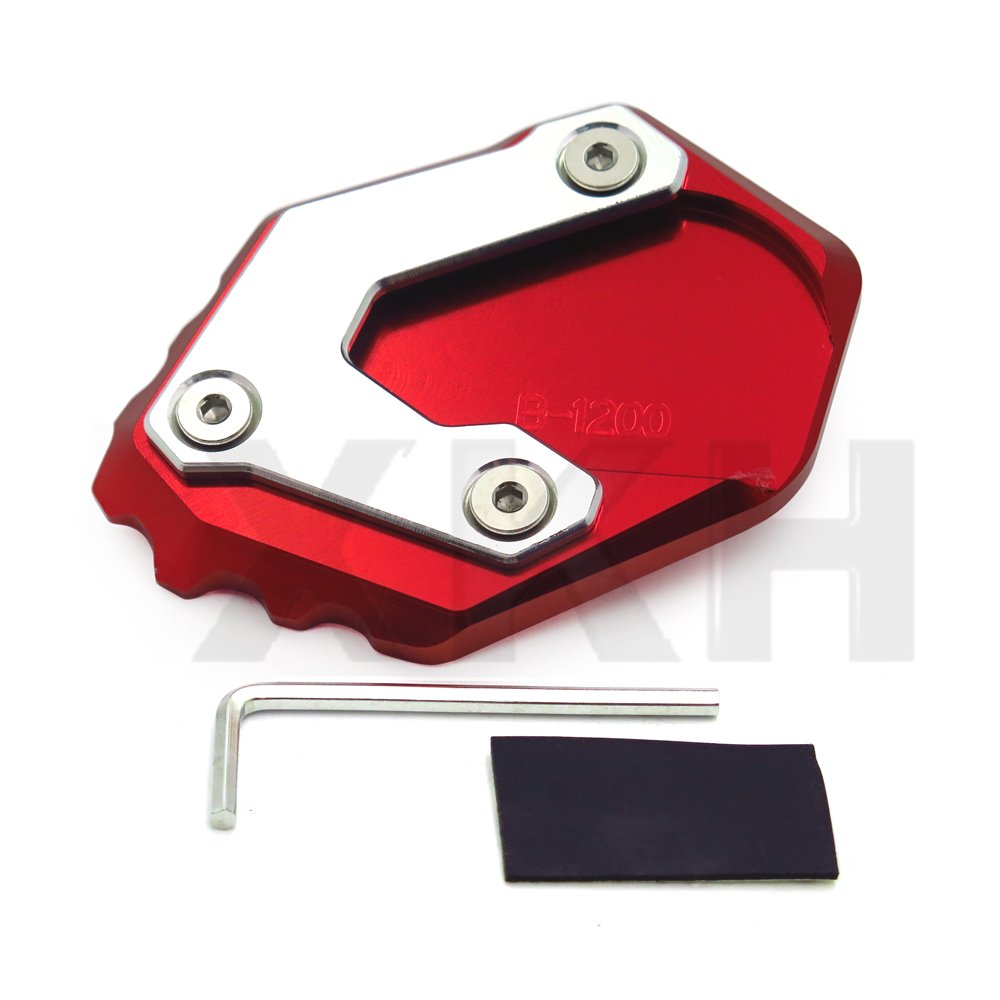 SMT- Kickstand Side Stand Enlarge Extension Pad for BMW R1200GS LC ADV 2013-2018 RED