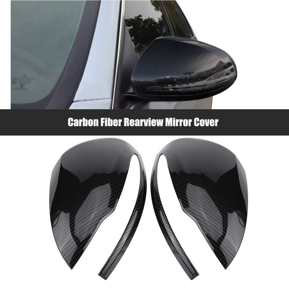 Specchietti retrovisori Cap-Copri specchietto retrovisore in fibra di carbonio per Mercedes Benz C//E//GLC//S Classe W205 W213 X253 W222 1Pair
