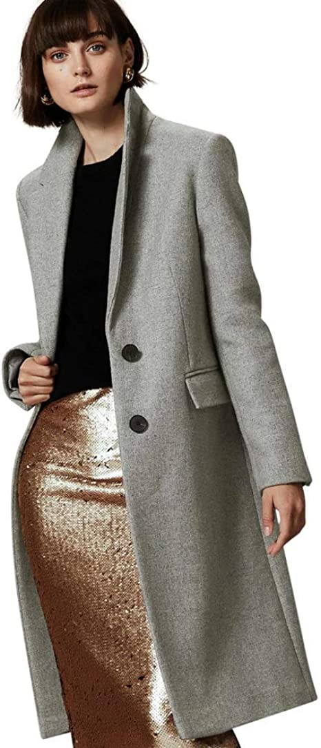 Marks /& Spencer T491408T M/&S AUTOGRAPH Wool /& Cashmere Single Breasted Coat £119