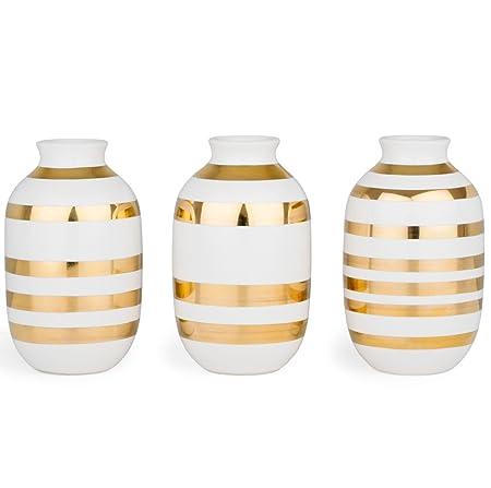 Khler Omaggio Vase 3 Pak Mini Gold H8 Cm Amazon Kitchen Home