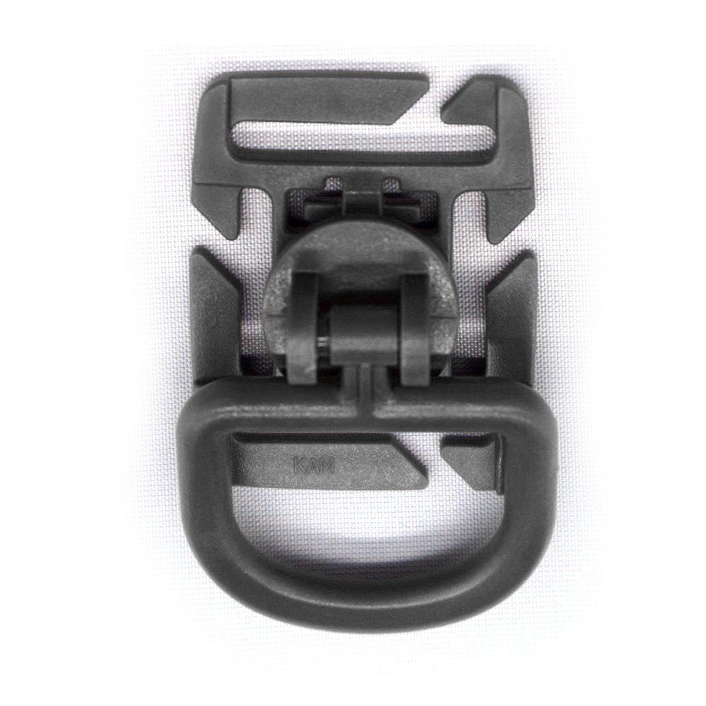 SYN 10 Clips t/ácticos con Anilla en D Negro Negro Durbale Tactical 360 Rotation D-Ring Clips MOLLE cinchas de fijaci/ón Mochilas EDC
