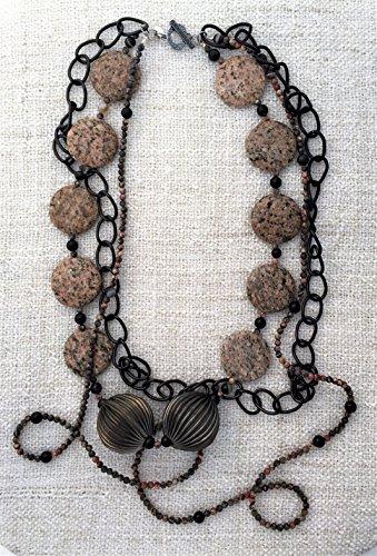 at Multistrand Statement Necklace Handmade Designer Jewelry - Gabriela Necklace (Designer Lariat Necklace)