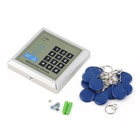 ulable electrónico proximidad RFID entrada cerradura de la puerta acceso Control sistema + 10 llaveros electrónicos