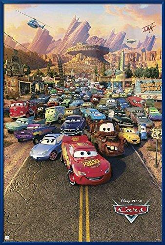 Cars - Framed Disney / Pixar Movie Poster / Print (Regular Style) (Size: 24